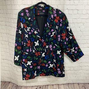 Eloquii floral blazer
